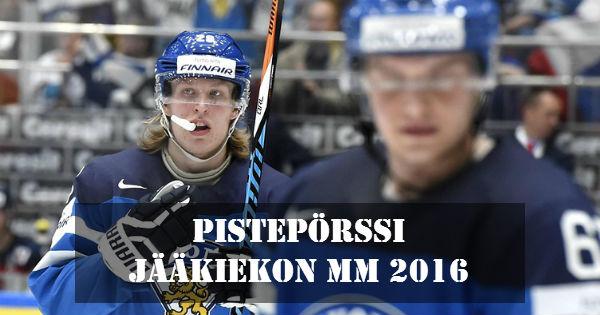 Mm jääkiekko 2016 pistepörssi