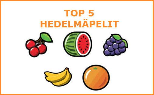 top 5 hedelmäpelit