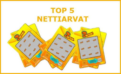 top 5 nettiarvat