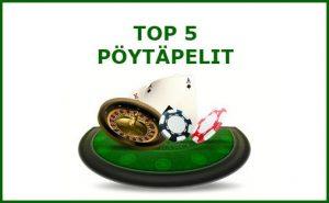 top 5 pöytäpelit